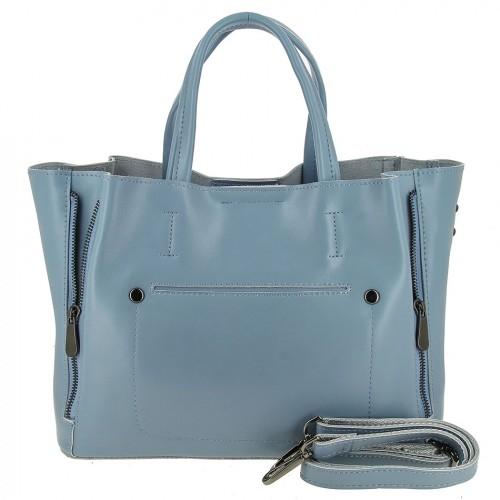 Женская кожаная сумка 0017 BLUE