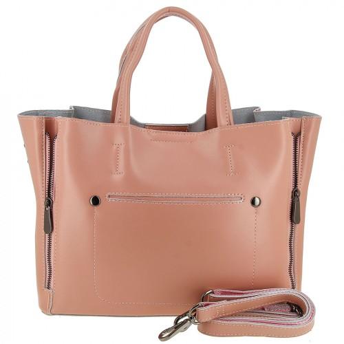 Женская кожаная сумка 0017 PINK