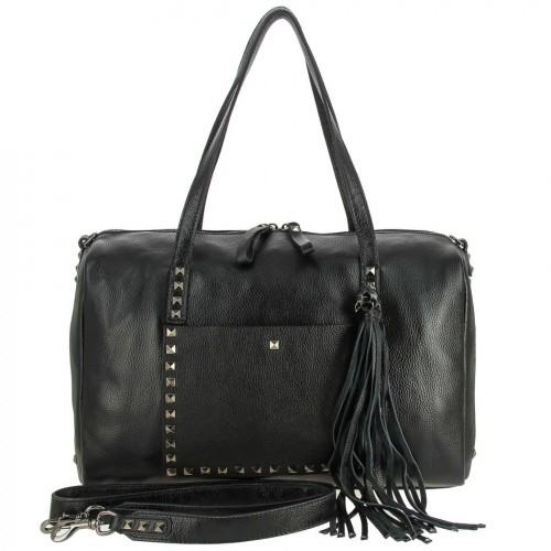 Женская кожаная сумка 02151 BLACK