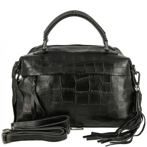 Женская кожаная сумка 13085 BLACK