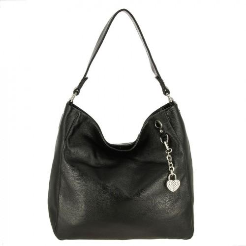 Женская кожаная сумка 1442 BLACK