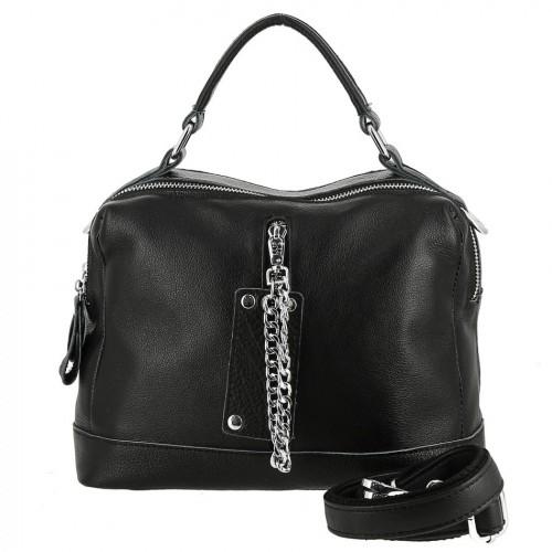 Женская кожаная сумка 1456 BLACK