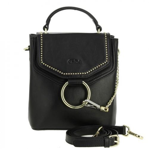 Женская кожаная сумка 1655 BLACK