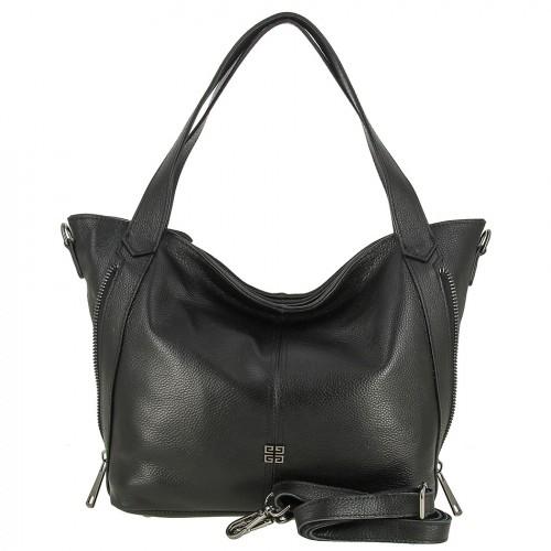 Женская кожаная сумка 1659 BLACK