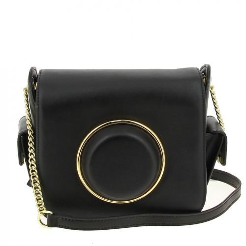 Женская кожаная сумка 2062 BLACK