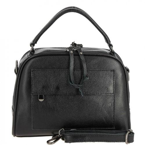 Женская кожаная сумка 2087-1 BLACK