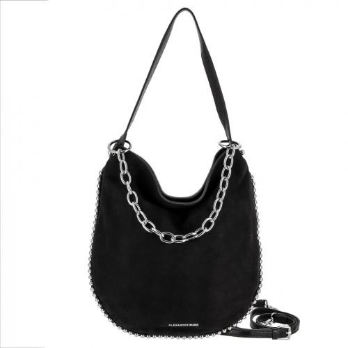 РАСПРОДАЖА!!!       Женская сумка из кожи и замши 5120 BLACK