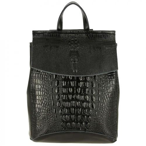 Женский кожаный рюкзак 1608-3 BLACK