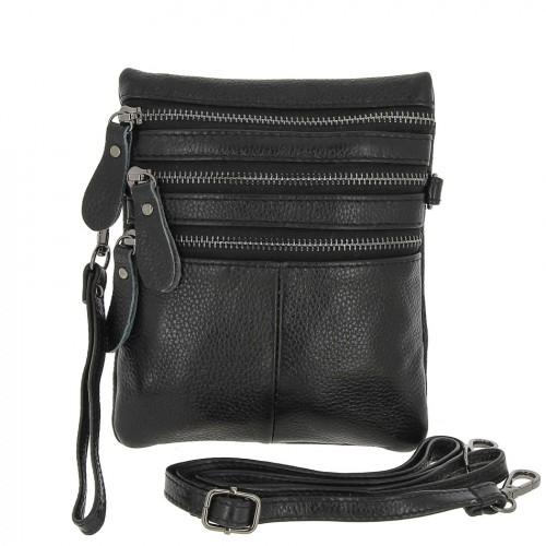 РАСПРОДАЖА!!!       Женская кожаная сумка 717 BLACK