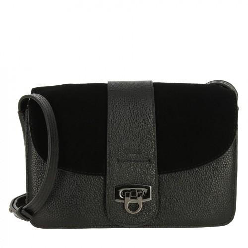 РАСПРОДАЖА!!!       Женская сумка из кожи и замши 7803 BLACK