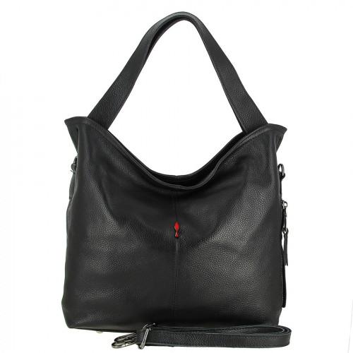 Женская кожаная сумка 8026-1 BLACK