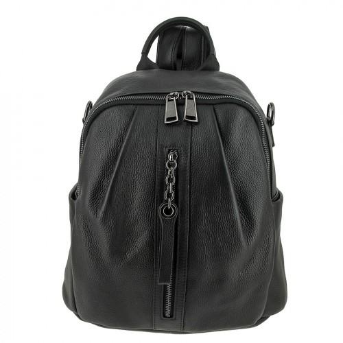 Женский кожаный рюкзак 8137 BLACK