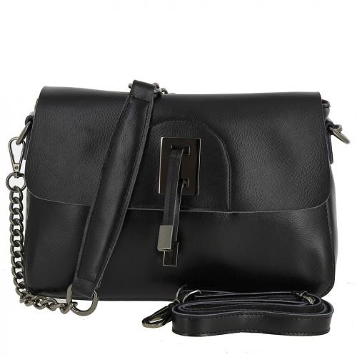 Женская кожаная сумка 9956-1 BLACK