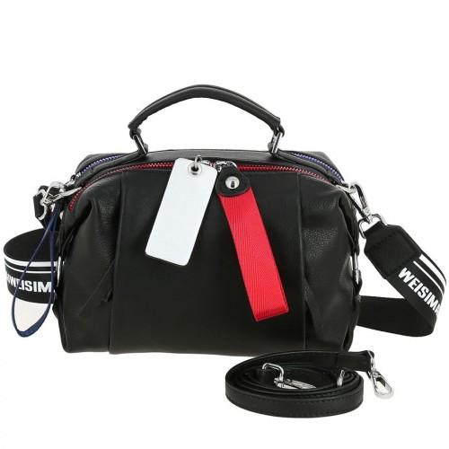 Женская кожаная сумка AL 6615 BLACK