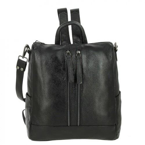 Женский кожаный рюкзак F8011 BLACK