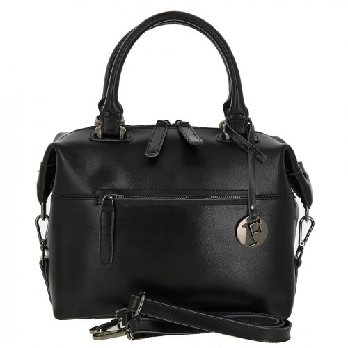 Женская кожаная сумка LX0081 BLACK